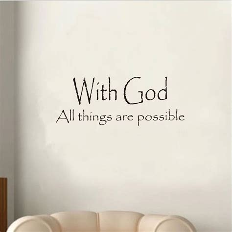 vinyl with god all things are possible letter decal wall sticker room decor ebay