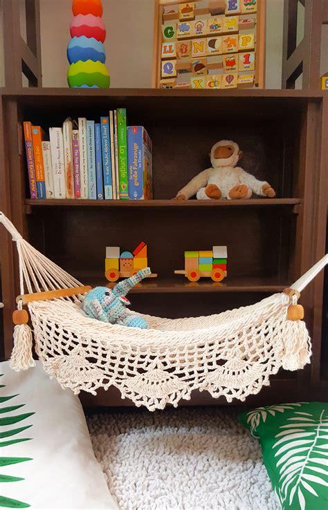 handmade macrame doll hammock  bed sleeps   dolls