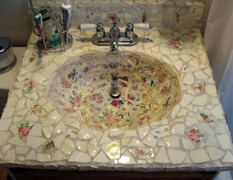 decorated bathroom sinks beautiful bathroom sinks decorated with mosaic tiles