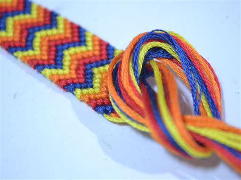 friendship bracelet with how to make a chevron friendship bracelet with pictures