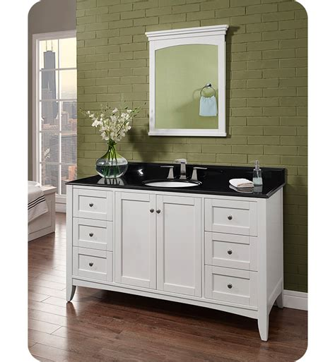 60 Inch Single Bowl Vanity fairmont designs 1512 v60 shaker americana 60 inch single bowl vanity in polar white