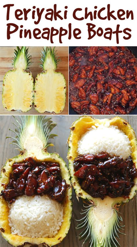 pineapple chicken boat these teriyaki chicken pineapple boats are actually so easy