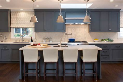Over Island Kitchen Lighting by Design Trend Blue Kitchen Cabinets Amp 30 Ideas To Get You