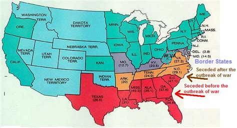 map of us states civil war quia 6 usii 9 civil war choose the states