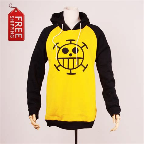 Sweater Trafalgar japanese anime one trafalgar costume hoodie yellow sweater clothes