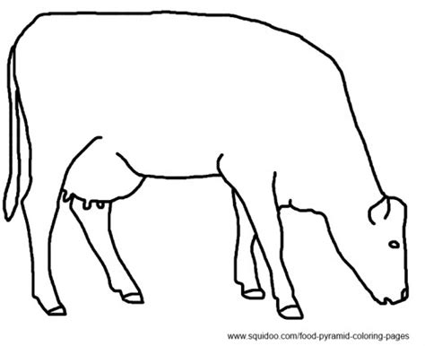 dairy cow coloring page food pyramid coloring pages