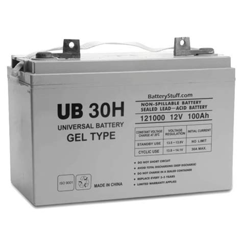 100 cycle battery price ub30h d5874 universal 12v 100 ah sealed cycle gel