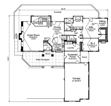 Craftsman Style House Plan 2 Beds 2 00 Baths 2100 Sq Ft 2100 Square Foot House Plans