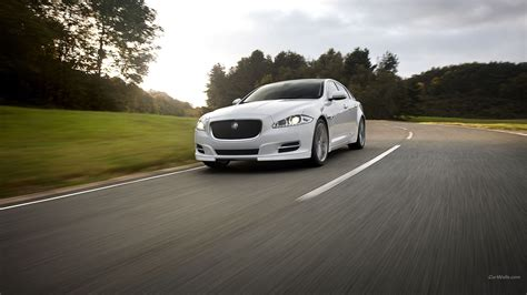 white jaguar car wallpaper hd jaguar xj white black rims image 75