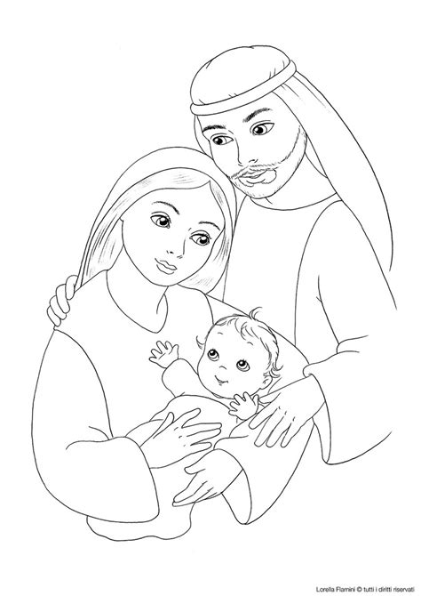 jesus mary and joseph coloring page sunday school