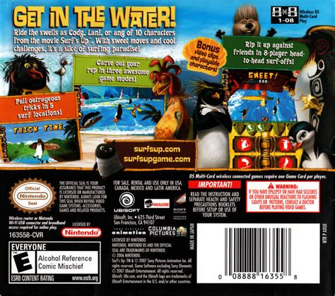 Suit Up Your Nintendo Ds by Surf S Up 2007 Nintendo Ds Box Cover Mobygames