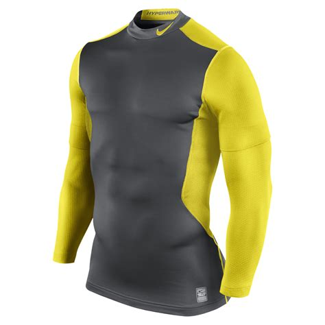 Baseslayer Nike Procombat Shirtsleeve nike pro combat hyperwarm fitted dri fit shield base layer sleeve shirt xl