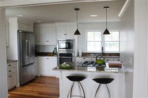 Houzz Homes Floor Plans by Small Beach House Lives Big Beach Style Kitchen