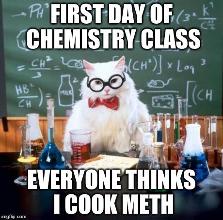 First Day Of Class Meme - chemistry cat meme imgflip