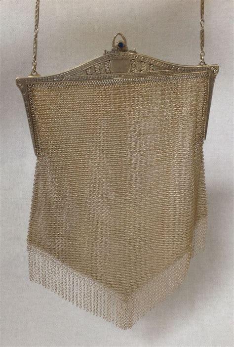 Whiting Davis Classic Shirred Satchel In Silver by Whiting Davis Silver Mesh Handbag Beautiful Frame