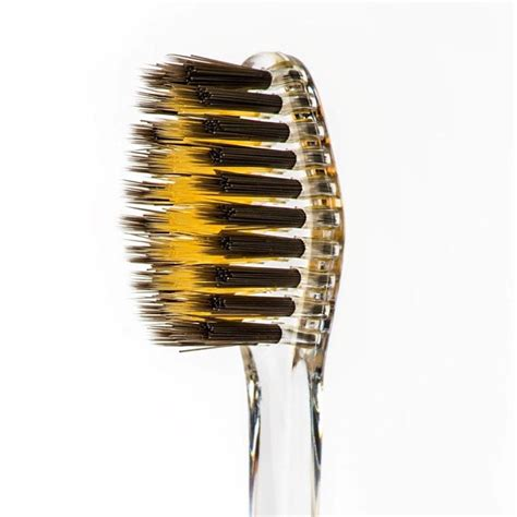 charcoal gold toothbrush ippinka