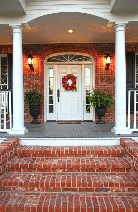 Brick Front Veranda Schritte by Best 25 Brick Porch Ideas On Farm House Porch