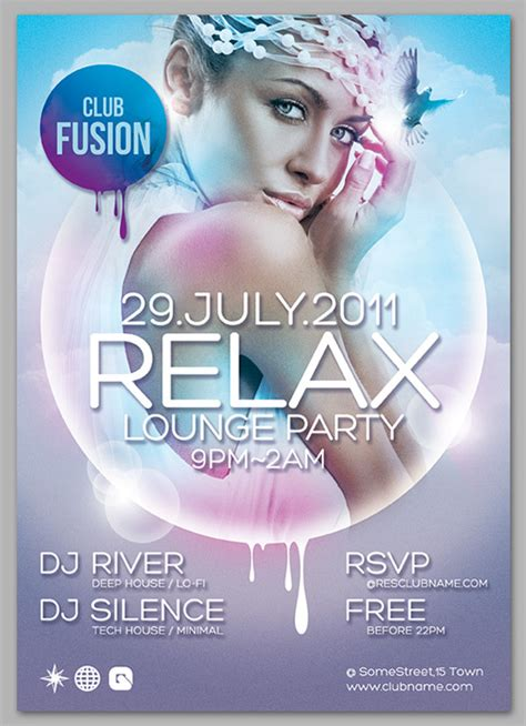 20 free print ready psd party flyers and posters