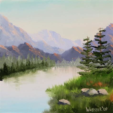 mountain river overture landscape painting by northern