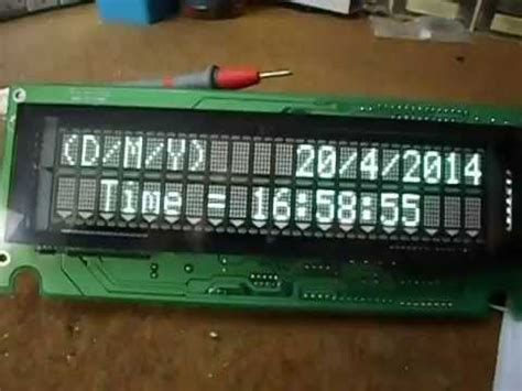 arduino ds1307rtc and unknown type serial vfd clock youtube