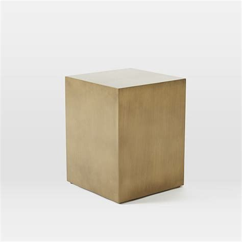 living room cubes living room metal cube side table antique brass west