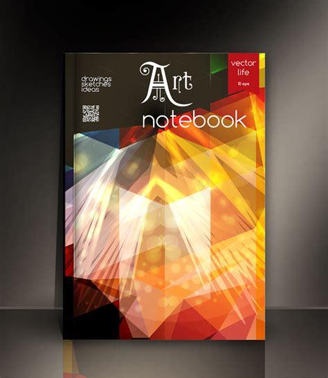 notebook cover design vector free download art notebook cover template vector 07 vector cover free