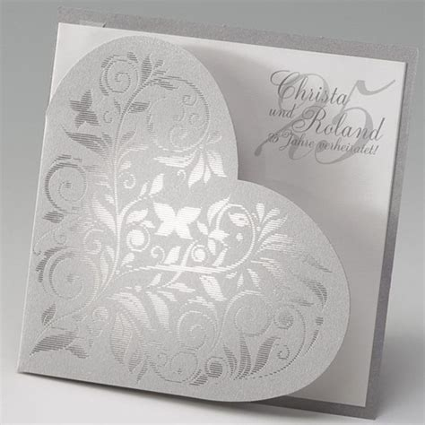 Einladungskarten Silberhochzeit by Einladungskarten F 252 R Silberhochzeit Selbst Gestalten