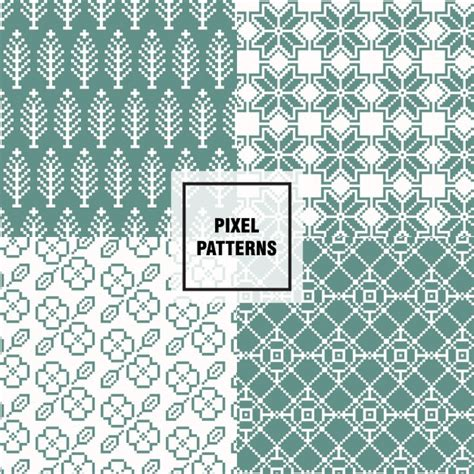 pixel pattern ai green pixel patterns vector free download