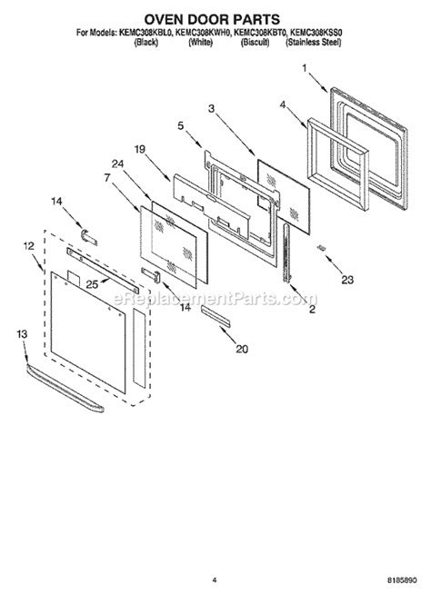 kitchenaid range parts replacement wiring diagrams