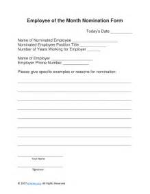 free employee of the month nomination form word pdf