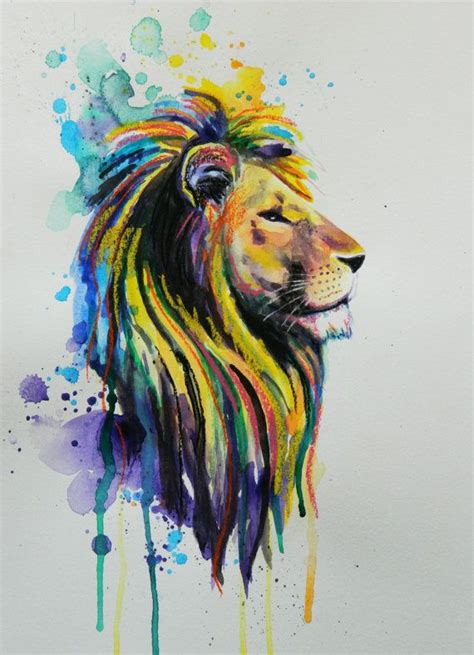 color lion tattoo 25 best ideas about watercolor on