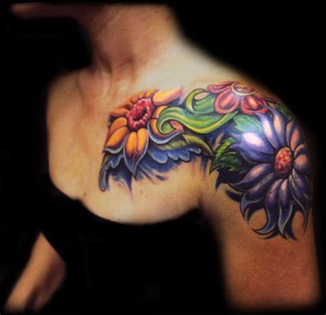 flower chest tattoo designs large image leave comment