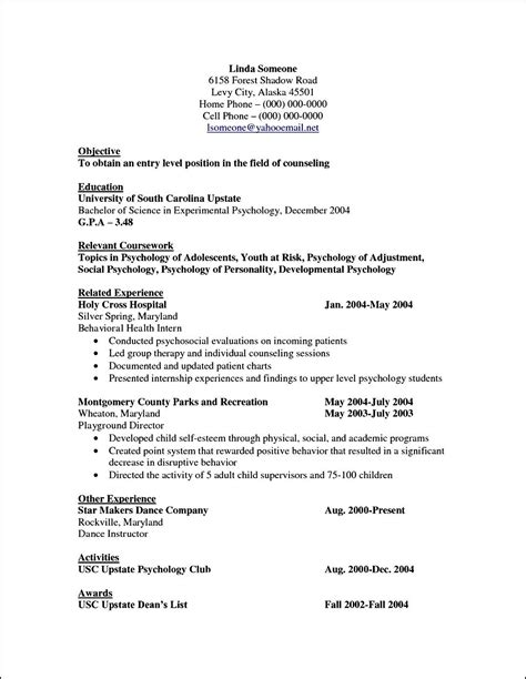 resume cv templates curriculum vitae template for psychologist free sles