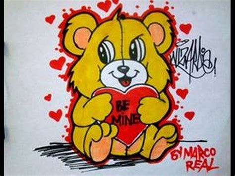 how to draw a valentines teddy bear with a heart for