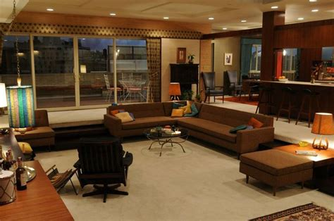 on the set of mad men at the office in the home artwork mad men set mid century modern pinterest