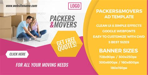 Packers And Movers Html5 Ad Banners By Zabru Codecanyon Packers And Movers Html Templates