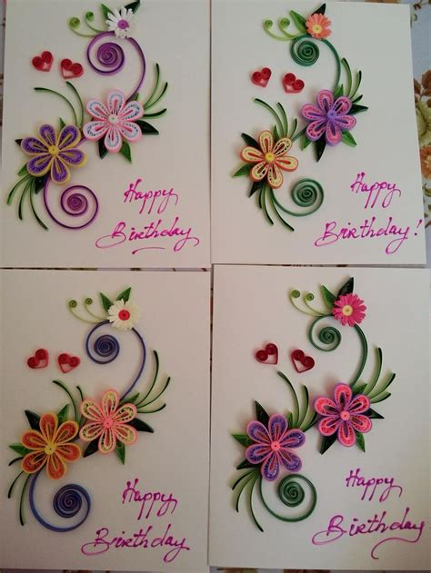 paper quilling cards tutorial 25 best ideas about quilling birthday cards on pinterest