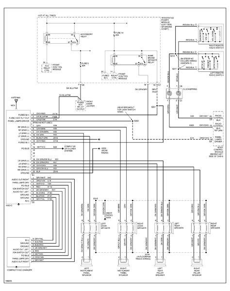 2001 dodge ram 1500 wiring diagram radio schematic
