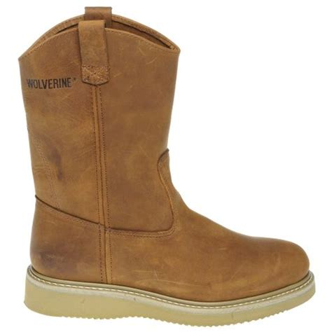 academy sports mens boots wolverine s wedge wellington work boots academy