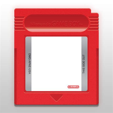 Gameboy Cartridge Template By Cow41087 On Deviantart Gameboy Label Template