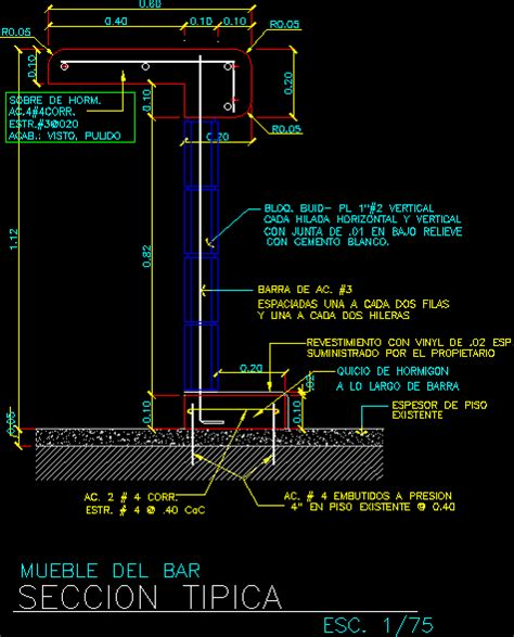 Bar Section DWG Section for AutoCAD ? Designs CAD