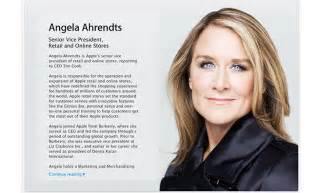 new apple retail chief angela ahrendts gets official