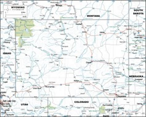 printable wyoming road map wyoming map highways download to your computer