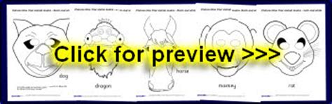 new year animal masks templates new year primary teaching resources printables