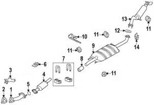 2003 Ford Escape Exhaust System Parts Diagram Ford Escape 2002 Parts Autos Post