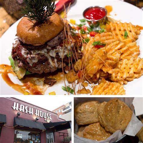 Hash House A Go Go San Diego Ca by San Diego Towering Stuffed Burgers At Hash House A Go Go