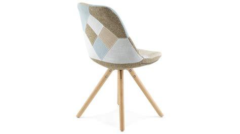 pied de chaise en bois nordi chaise patchwork pied bois