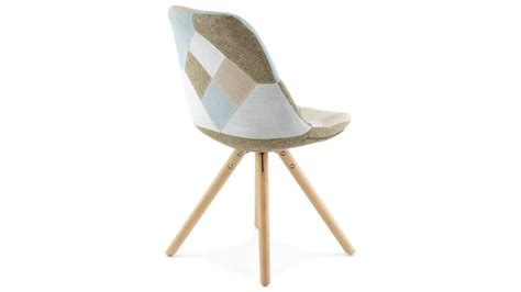 chaise pieds bois nordi chaise patchwork pied bois