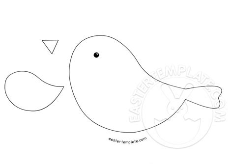 Paper Bird Craft Template - crafts bird template easter template