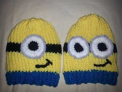 minion hat knitting pattern loom knit minion hats needles bows crafts learning